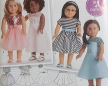 Simplicity S0172/8039 -- Home Sewing Pattern for American Girl Dolls. Pattern is uncut and factory folded, NEW!