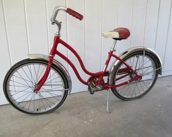 Red Vintage 1970s  Schwinn Children's Bike