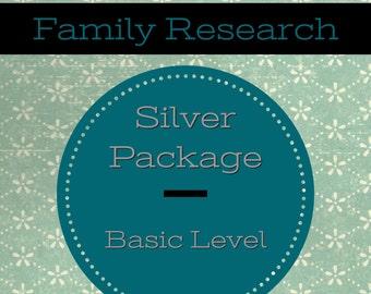 Custom Family Research- Silver Pkg, Basic Level