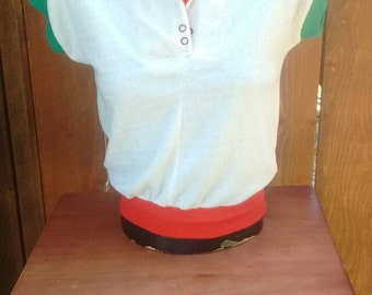 Vintage 70s Terry Cloth Top Small