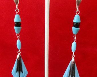 Pair of Vintage  Czechoslovakian Glass Bead Earrings