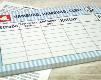 Hamburg, Hamburg, Elbe / / recycled paper / / 50 sheets / / A6 / / climate neutral printed in Germany