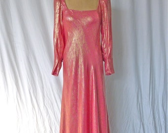 Stavropoulos Golden Jacquard and Silk Gown