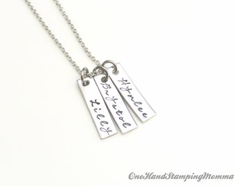 Hand Stamped Necklace - Personalized Mom Necklace - Perfect Gift- Personalized Jewelry