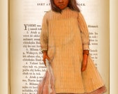 CHOCTAW BIBLE - little girl painted on choctaw bible page