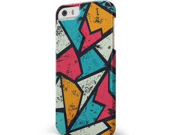 Blue, Orange, and Red Zig Zags - iNK-Fuzed Hard Case for the Apple iPhone - Samsung Galaxy & More