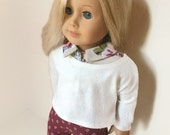 American Girl Doll Clothes - 3 piece set Ankle cropped slim pants, blouse and sweater