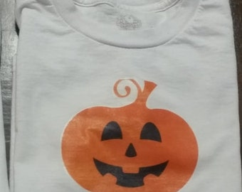 Halloween jack o lantern pumpkin name onesie or shirt