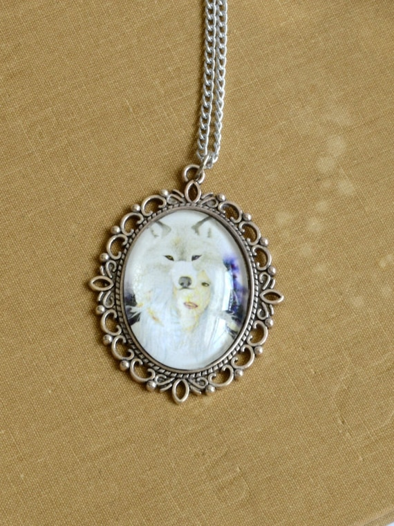 wolf totem pendant wearable