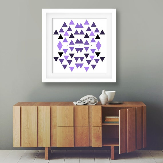 Kitchen Print Kitchen Wall Art Purple Kitchen Decor Gratitude: Modern Home Decor Bright Purple Wall Art Boho By