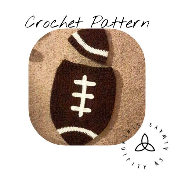Free Printable Crochet Patterns For Baby Cocoons : Crochet PATTERN Newborn Baby Football by SerendipityasAlways