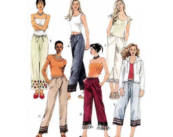 Women's Pull-on Pants in Two Lengths Sewing Pattern Misses / Plus Size 16, 18, 20, 22 Uncut McCall's 2791
