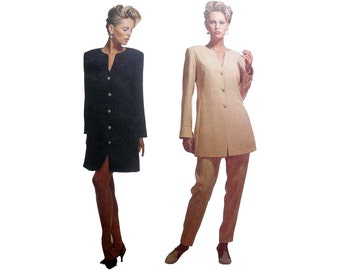 Women's Dress, Tunic and High Waist Pants Sewing Pattern by Designer Lida Baday Misses Size 6 Uncut McCall's 6471