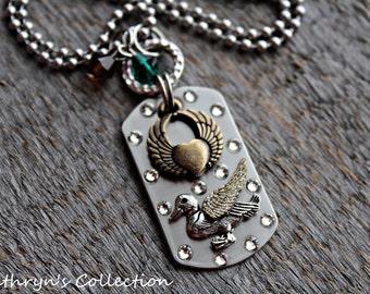 Duck Angel Necklace, Duck Memorial Necklace, Duck Necklace, Duck Jewelry, Pet Duck Keepsake