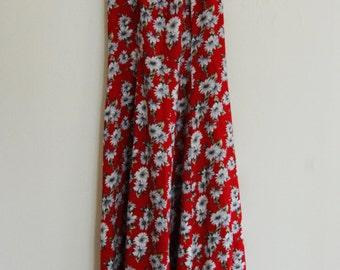 über 90's Flower Babydoll Dress by All That Jazz Cross Back Grunge 9/10
