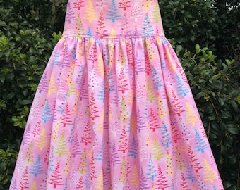 Size 3 yrs sundress in pink Christmas Print