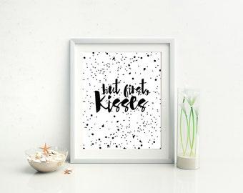Printable Quote Romantic Polka Dot Wall Art Love Saying Home Decor