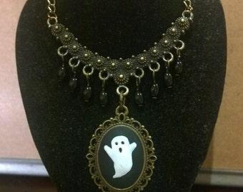 Ghost cameo pendant