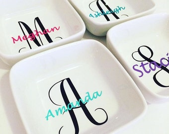 Monogram Jewelry Dish