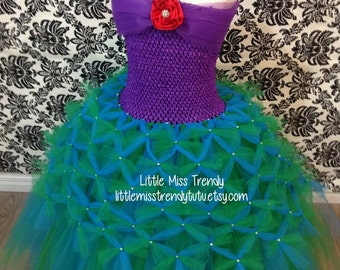 The Little Mermaid Inspired Tutu Dress, Little Mermaid Tutu Dress, Ariel Tutu Dress, Mermaid Tutu Dress, Ariel Dress, Ariel Tutu, Ariel