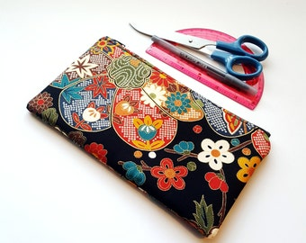20%OFF Japanese Blossom Large Pencil Case / Black