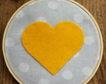 Heart Embroidery Hoop Art