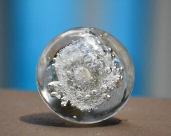 Bubble glass knob/clear glass knob/glass knob/round knob/decorative knob/furniture hardware/drawer knob/kitchen knob/bathroom knob