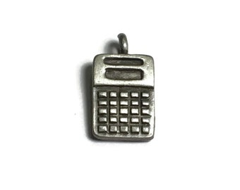 JJ Pewter Calculator Charm, Accountant Pendant, Math, Geek, Nerd,