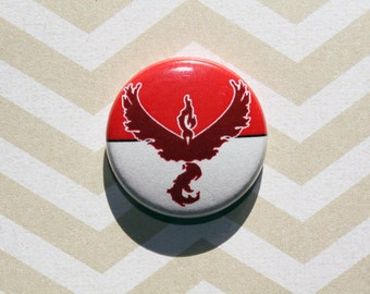Team Valor Pokemon-One Inch Pinback Button Magnet