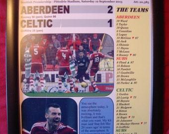 Aberdeen 2 Celtic 1 - 2015 - souvenir print