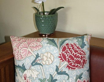 "William Morris Cray Cushion Cover 16"" x 16"" - Sanderson Fabric"