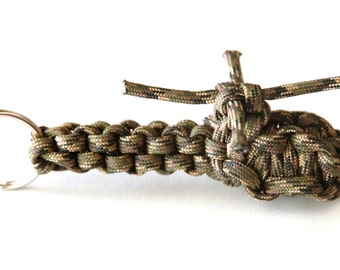 Helicopter Keychain, Paracord Helicopter Keychain, Military Keychain, Backpack Clip, Helicopter Pilot, Chopper Pilot, Camo, Helo, Key Fob