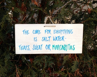 Margarita Sign, Tequila Sign,  Tequila Gifts, Margarita Gifts, Funny Wood Sign, Salt Water Sign, Bar Sign, Alcohol Sign, Alcohol Gifts