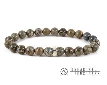 Green Gemstone Bracelet - Green Jasper Bracelet, Men Bracelet, Gemstone Jewelry, For Men, For Women, Stone Bracelet