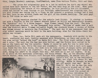 St. William's Rectory, 1048 Dorchester Avenue, Dorchester, Massachusetts, April 21, 1944 newsletter, fair shape