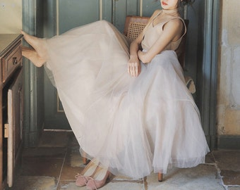 L'amant Collection princess pink/grey layered ballet skirt