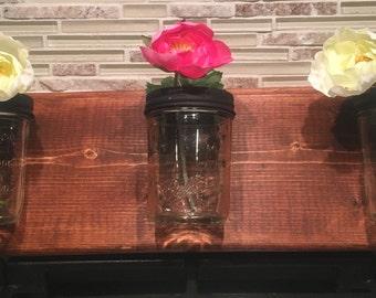 Mason Jar Vase Candleholder Wall Art