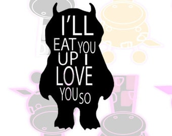 Monster I Love you so- SVG