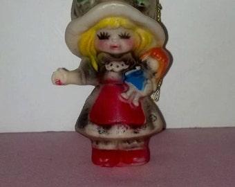 Holly hobby vintage ornament