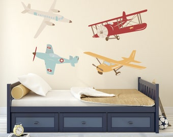 Airplane Wall Decals Etsy - Wall decals nursery nz