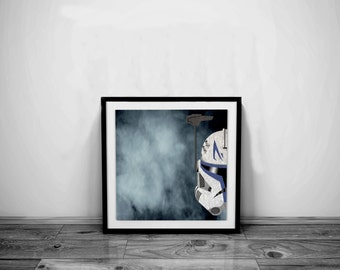 Star Wars Art Clone Trooper Art Clone Trooper Helmet Star Wars Print Clone Trooper Print Star Wars Poster Star Wars Gift