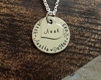 Aunt Gift Aunt Necklace Gift Auntie Necklace Aunt Jewelry Sister in Law Aunt Gift Sister Necklace Auntie Jewelry Auntie Gift for Aunt