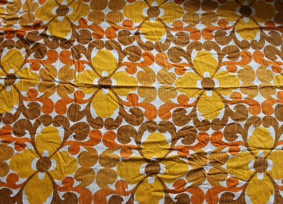 g nial rideau drap tissu pi ce vintage des ann es 70 op pop. Black Bedroom Furniture Sets. Home Design Ideas