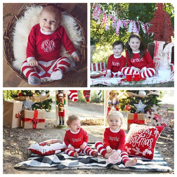 items similar to personalized kids christmas pjs - kids christmas jammies