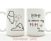 Home Is Where Mom Is - Different State To State Mug