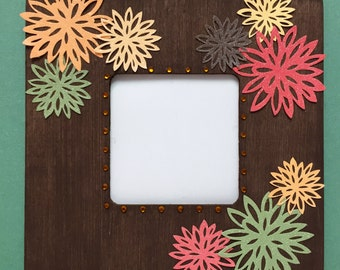Fall Flowers Frame