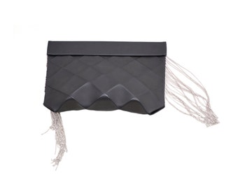 LEATHER CLUTCH MODERN Origami size M