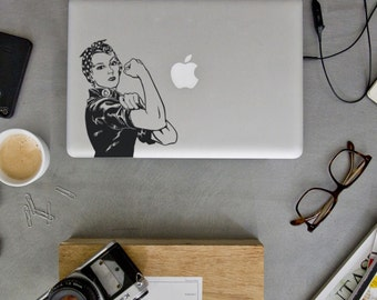 Rosie Macbook Decal - Rosie the Riveter Decal - Laptop Decal