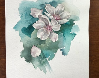 Flowers , watercolour painting