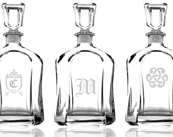 Personalized Engraved Whiskey Decanter, 23.5 oz